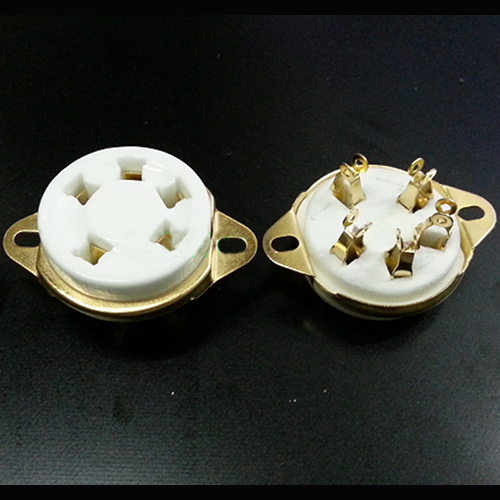 1 PC Gold plated GZC5-2-G 5pin Plated Audio Vacuum Valve Tube socket for 807 FU-7 WE272A