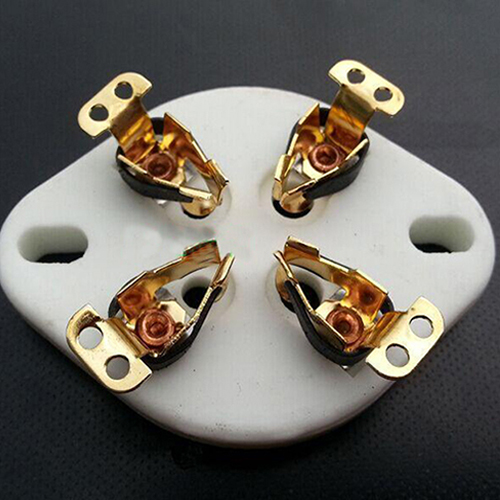 1PC  4pins U4A Ceramic Vacuum Tube socket Gold plated For 300B,2A3,811,45,71A,5Z3,572B