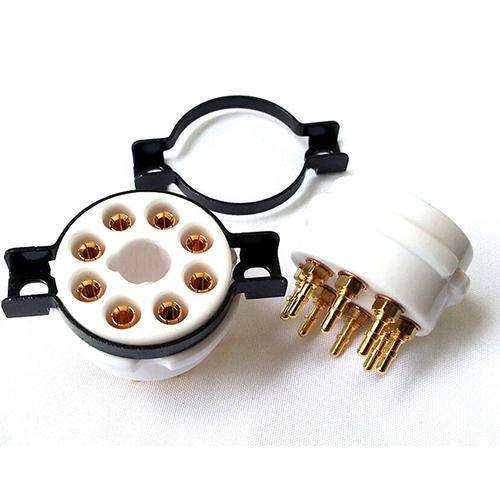 1PC EIZZ 8 pin Ceramic Vacuum Tube Socket for 6V6 KT88 EL34 5881 WITH Screw