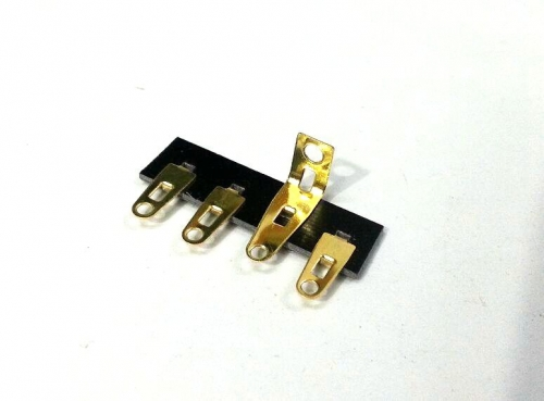 1PC gold plated 4 pins Tube Amp  Terminal Strip Tag Board Turret Board FOR HIFI DIY