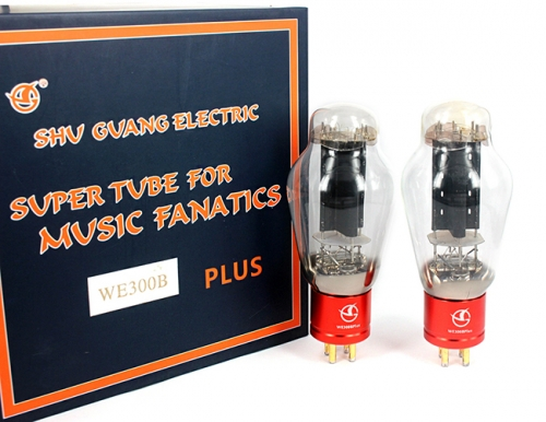 Matched Pair ShuGuang WE300B PLUS Replica Western Electric Vacuum Tube 300B