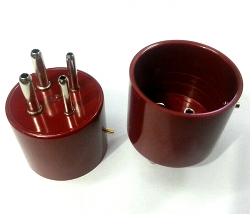 1PC Red Vacuum Tube socket Base GOLD Plated 4pins  300BR FOR 300B 2A3 811