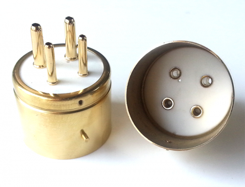 1PC  4pins Ceramic Vacuum Tube socket Base 300BR-G For 300B 2A3 811 274