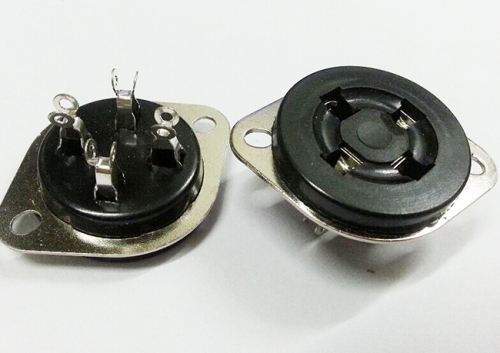 1PC Silver plated bakelite 4pin Vacuum Tube Socket for 300B 2A3 811 572B 274A
