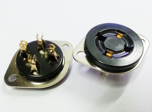 1PC Gold plated bakelite 4pin Vacuum Tube Socket for 300B 2A3 811 572B 274A