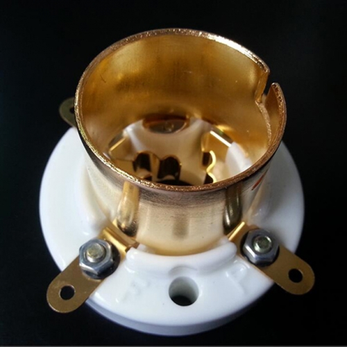 1PC Gold plated  4pin Vacuum Tube Socket for 300B 2A3 811 101D