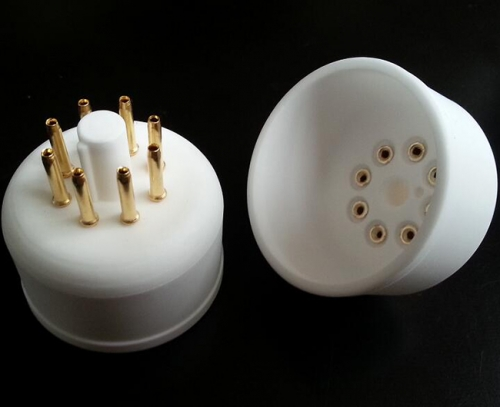 1PC Gold plated Ceramic 8Pin Vacuum Tube Socket Base for  EL12 AZ1 AZ12 AZ11 EF12 EZ12