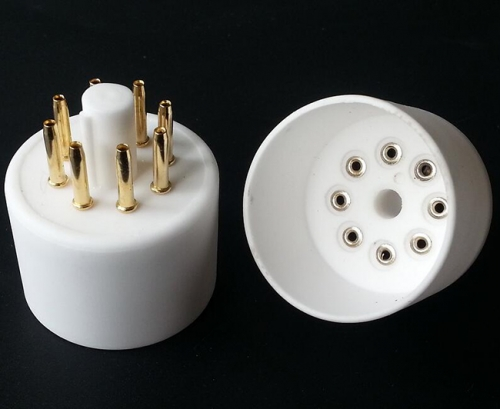 1PC Gold plated Ceramic 8Pin Vacuum Tube Socket Base amplifier DIY tube socket base