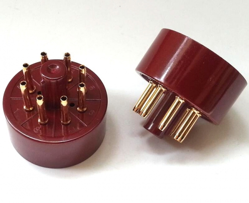 1PC Tube AMP DIY parts Gold plated Bakelite 8Pin Vacuum Tube Socket Saver for EL34
