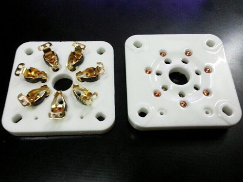 1PC 7-pin Vacuum Tube Gold plated Ceramic Sockets for 813/FU-13 5-125B