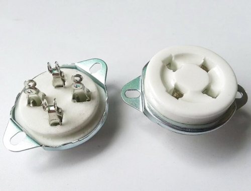 1 PC Silver plated 4Pin U4A Ceramic Tube Socket Valve Base For 811 274A 572B 300B