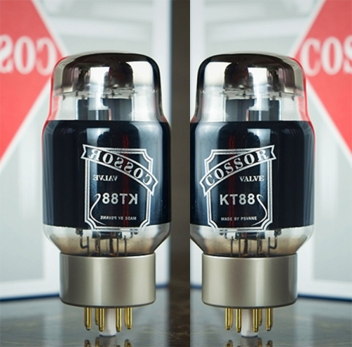 1 matched pair Carbon Coated PSVANE Cossor KT88 Audio Amplifier Vacuum Tubes