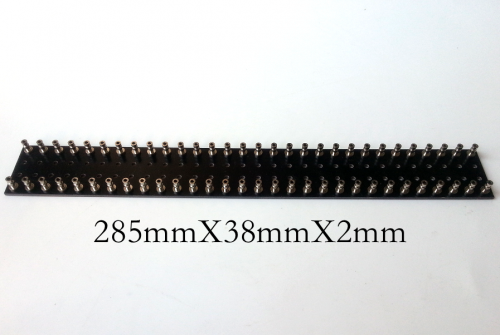 1PC 285X38X2mm Double 30pins Black nickel plated Copper Round Type TURRET Guitar AMP TAG BOARD STRIP BOARD