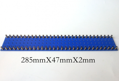 1PC 285x47x2mm Double 30pins blue nickel plated Copper Round Type TURRET Guitar AMP TAG BOARD STRIP BOARD