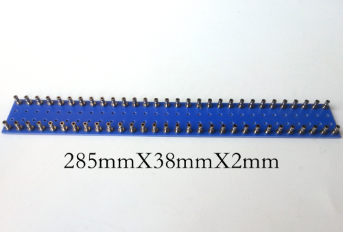 1PC 285X38X2mm Double 30pins blue nickel plated Copper Round Type TURRET Guitar AMP TAG BOARD STRIP BOARD