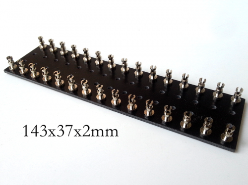 1PC 143x37x2mm Black nickel plated Copper Open Type TURRET Guitar AMP TAG BOARD STRIP BOARD