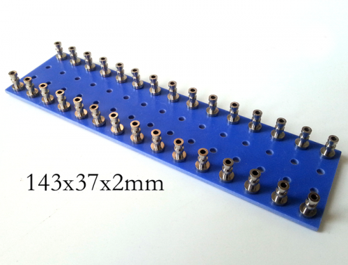 1PC 143x37x2mm blue nickel plated Copper Round Type TURRET Guitar AMP TAG BOARD STRIP BOARD