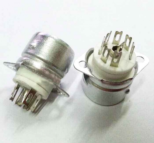 1PC GZC7-F-B 7PIN B7A Silver plated Vacuum Tube Sockets with Shield For 6Z4 EAA91 EC92 6J1