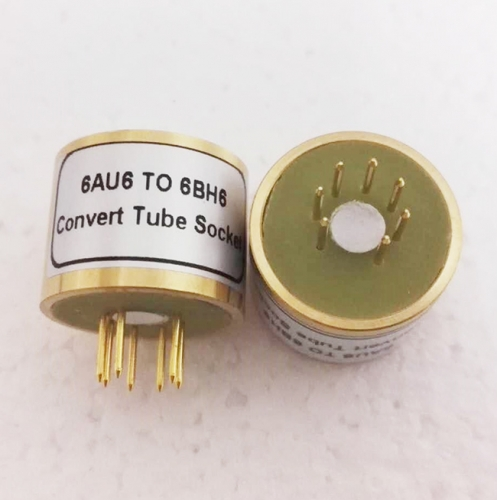 1PC 6AU6 to 6BH6  tube adapter socket converter gold plated pins