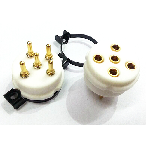 1PC PX4 PX5 U18 U19 1064 EIZZ 5 pin Telflon Vacuum Tube Socket