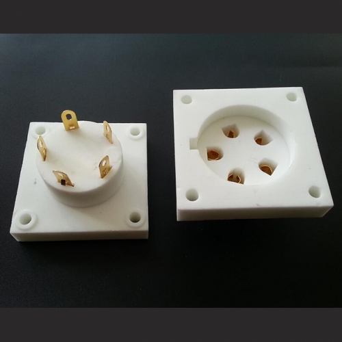 1PC Aa Ba Cd Da Gold plated 5pin Vacuum Tube Socket
