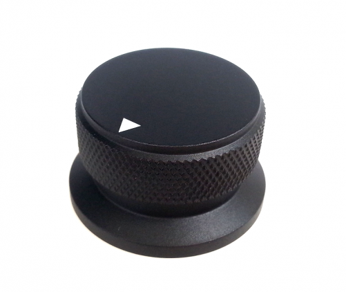 1PC  34X30.4X20mm Black Color Aluminium AMP volume potentiometer Knob 6.0mm hole