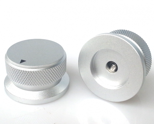 1PC 34X30.4X20mm Silver Color  Aluminium AMP volume potentiometer Knob 6.0mm hole