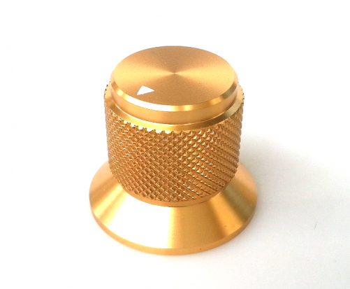 1PC 30X25x22.5mm Gold Color  Aluminium AMP volume potentiometer Knob 6.0mm hole