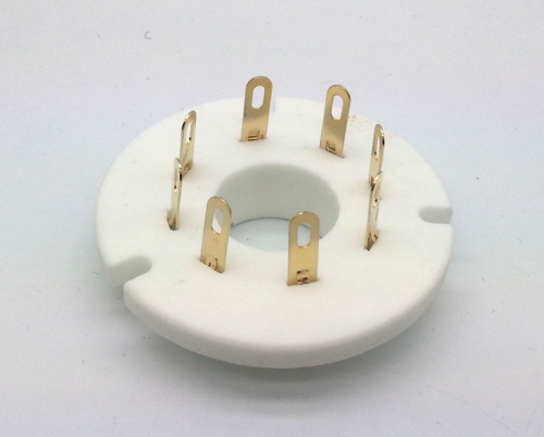 1PC FU50R-G  Gold plated 8pin ceramic Vacuum tube socket for FU-50 5Z8P 5Z9P FU15 RY50 5U8C